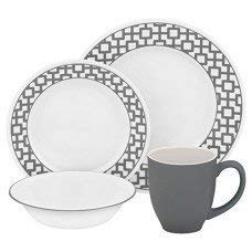 Corelle Impressions 16 Piece Dinnerware Set - Urban Grid