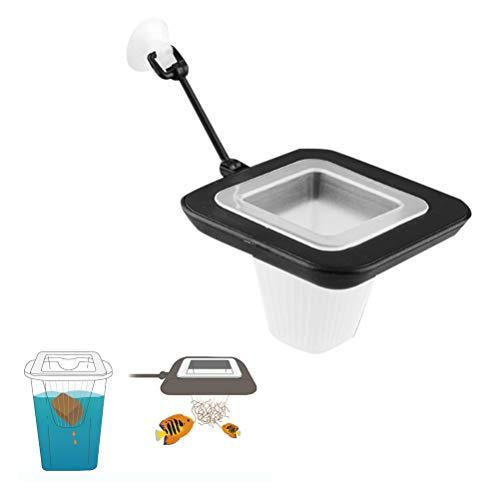 POPETPOP Aquarium Feeder Cone-2pcs Bloodworm Feeder Cone Floating Fish Feeder,Fish Tank Feeding Cup Plastic Cone Basket