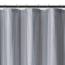 Fieldcrest® Luxury Dobby Stripe Shower Curtain - Green Stripe