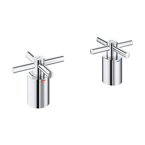 GROHE 18033003 Atrio Roman Bathtub Faucet Cross Handle, Starlight Chrome