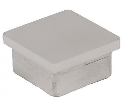 Abdeckkappe quadratisch 40/40/2,0 mm, langer Sockel, V2A Edelstahldiscounter