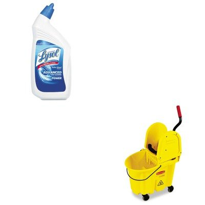 KITRAC74278CTRCP757788YW - Value Kit - Rubbermaid-Wavebrake Down Press Combo,Yellow (RCP757788YW) and Professional LYSOL Brand Disinfectant Toilet Bowl Cleaner (RAC74278CT)