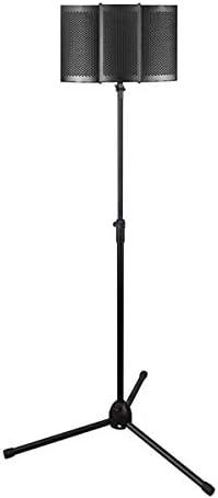 スピーカーカラオケマシン 折り畳み式のマイクアコースティック分離シールドメーカー発泡パネルのレコーディングライブ放送マイクブラック カラオケの歌唱ステージと野外活動のために (Color : Black, Size : 26x21x7cm)