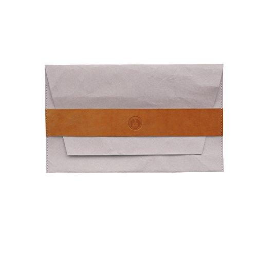 Colore: grigio chiaro, Look-Frizione, colore cammello per lettiera superleggera-Custodia in pelle per macbook
