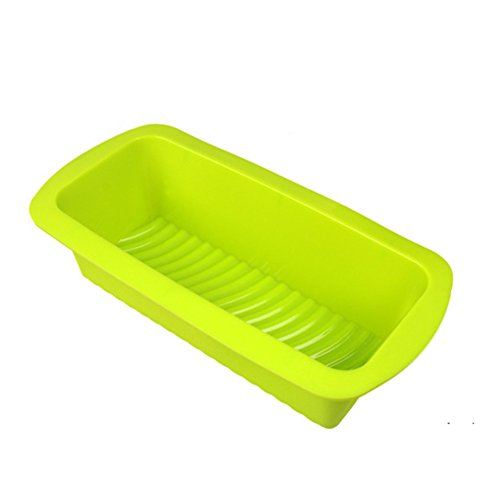 Daixers Silicone Bread/Loaf Pan Mold - Non Stick & Non Skid (Green) (Halloween Biscuits No Egg)