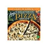Amy's Spinach Pizza, Light in Sodium, Non GMO, 7.2-Ounce Boxes (Pack of 12)