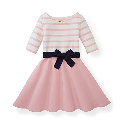 Pink Dress For Girl (Hope & Henry Girls Rose Pink Blocked Skater)