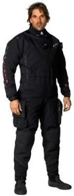 防水 メンズ Tusa D1 ハイブリッド バックジップ トリラム ドライスーツ シリコンシールとクイックカフシステム(サイズS)