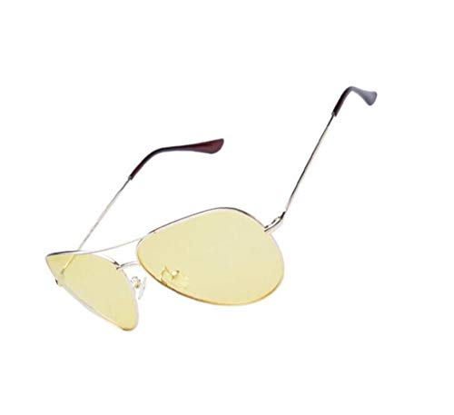 marco exteriores sol gafas Yellow Night metal de de hombres de UV400 para polarizadas mujeres FlowerKui gafas Glasses Amarillo Driving protectoras sol moda wFSqSI