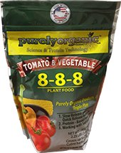 2.25lb Purely Organic Products LLC Tomato & Vegetable Plant Food 8-8-8 (Purely Organic Fertilizer)