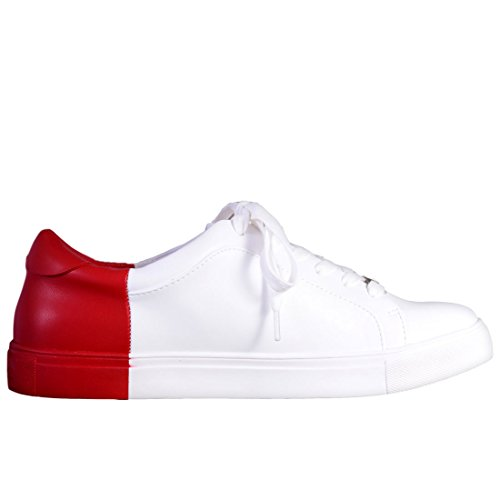 Bebe Donne Charley Sneaker Rosso Bianco