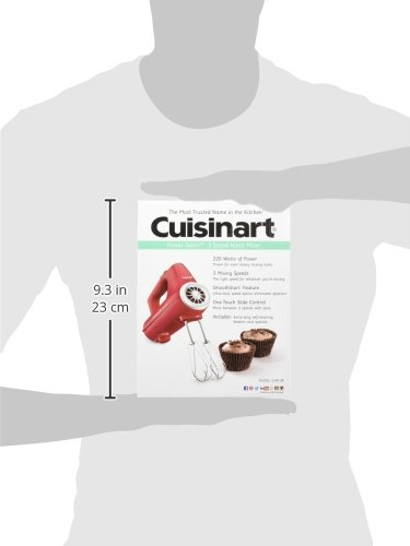 Cuisinart CHM-3R Electronic Hand Mixer 3-Speed, Red by Cuisinart (Image #2)