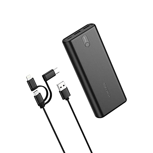 Portable Charger PD 18W Power Bank EnergyCell Ⅱ 20000mAh High-Speed Charging with Power Delivery, Fast Charge Portable Charger with 3 Outputs, Huge Capacity External Battery Pack