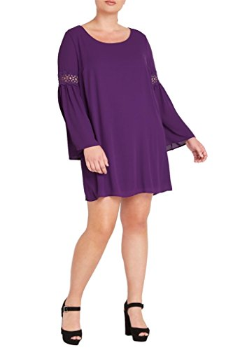 Buy bell sleeve babydoll dress - 9