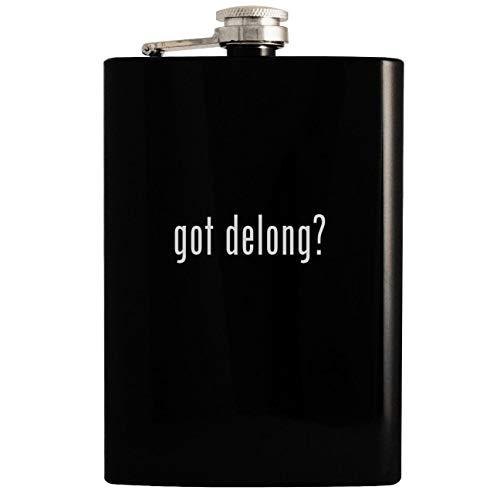 got delong? - Black 8oz Hip Drinking Alcohol Flask