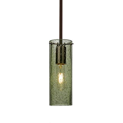 Br Pendant 1 Light Stem (Besa Lighting 1TT-JUNI10MS-BR Juni 10 1 Light Bronze Stem Pendant Ceiling Light)