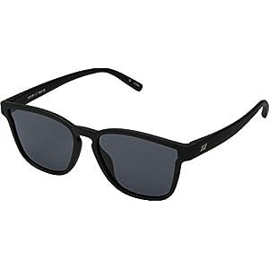 Le Specs Women's History Sunglasses, Black Rubber/Smoke Mono, One Size