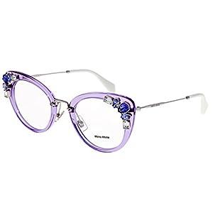 MIU MIU RUNWAY JEWEL 05P Lilac Silver Cat Eye Glasses RX Optical Frame MU05PV