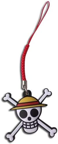 One Piece- Straw Hat Pirates Jolly Roger PVC Cell Phone Charm