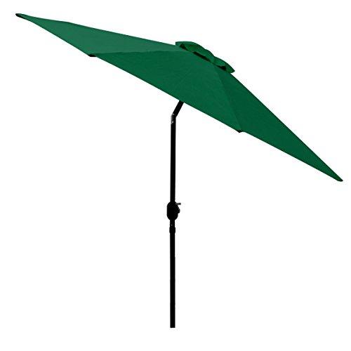 9 FT Green Outdoor Patio Umbrella Octagon Tilt Sun Shade