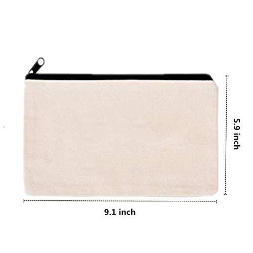 Amazon.com: 10 bolsas de lona para maquillaje, bolsa de ...