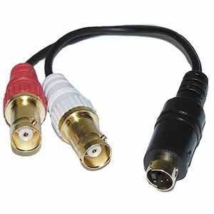 S-Video Y Adapter (4-Pin S-VHS Male to Two BNC Female Connectors) : 45-457
