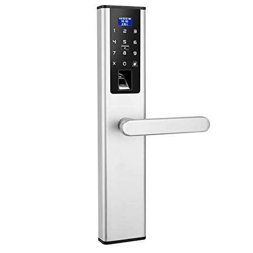 BLWX - Smart Lock-zinc Alloy-wearing And Scratch-resistant Password Lock Fingerprint Lock Home Security Door Electronic Lock Fingerprint Password Lock Remote Door Lock Waterproof - Size: 37X7.5cm Door by BLWX-home renovation. Door lock (Image #7)