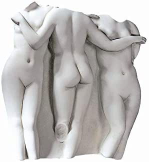 Design Toscano Three Graces Wall Fragment Original Size