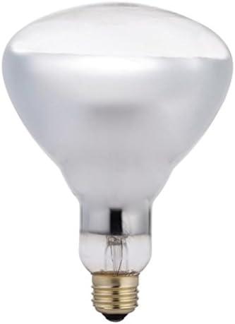 Philips 416750 Heat Lamp 125-Watt BR40 Clear Flood Light Bulb 4 Pack