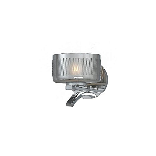 Lumenno Lighting 2008-00-01 Wall Sconce with Chrome Plated Glass Shade, Chrome Finish by Lumenno