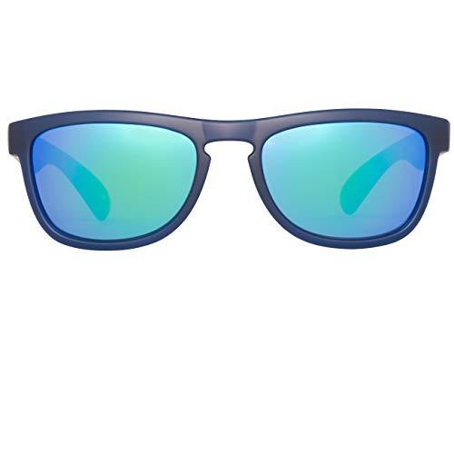 Adjustable Nickel Matt (SINNER Richmond Junior Sunglasses - Matt Dark Blue/PC Green Rivo)