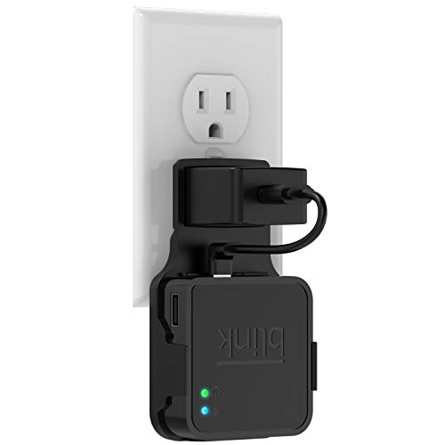 Outlet Wall Mount for Blink Sync Module, Kasmotion Hanger Bracket Holder for Blink XT Outdoor and Indoor Security Camera Black or White WiFi Hub, No Messy Wires or Screws (Black)