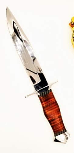 DKC Knives DKC-UL-113-M Lizard Bowie Fixed Blade Hunting Loveless Style Knife Custom Hand Made 440c Steel 13.25 Long 8.25 Blade 13.7 oz Ultraline Serie