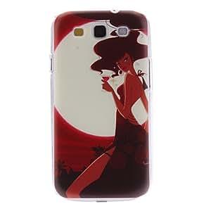 HC-Chica Caso duro del patrón del vino rojo para Samsung Galaxy S3 I9300