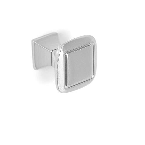 - BirdRock Home Classic Square Cabinet Knobs | Brushed Nickel | 10 Pack | Kitchen Cupboard Furniture Cabinet Hardware Drawer Dresser Pull | 1.25 Inch Width