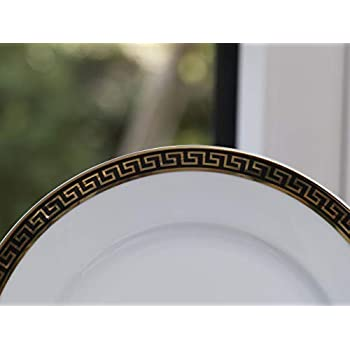 Image of Dinnerware Sets Calvin Klein Eternity Egyptian Black 28 Piece Dinner Service, Porcelain White, 50 x 40 x 40 cm