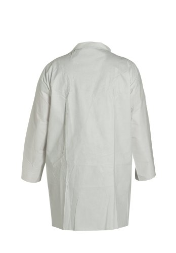 DuPont ProShield 60 NG212S Disposable Lab Coat with Elastic Cuff, White, Large (Case of 30) by DuPont (Image #2)
