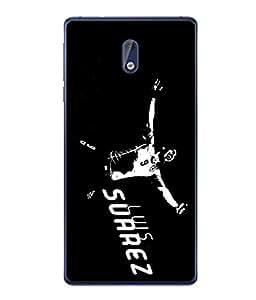 ColorKing Football Suarez Uruguay 08 Black shell case cover for Nokia 3