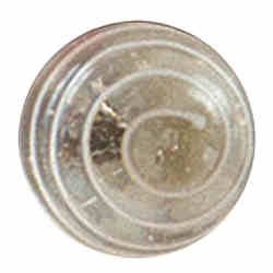Bombay Duck Glass Door Knobs - Clear with White spiral swirl: Amazon ...