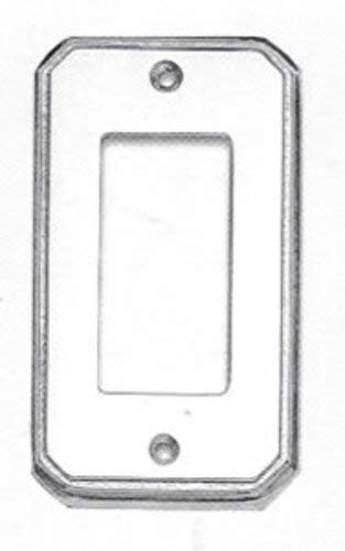 Omnia 8024/S Beveled Edge Single Rocker Switch Plate from the Classics Collectio, Polished Chrome