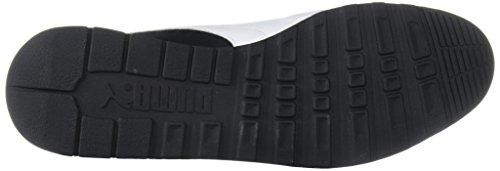 PUMA Mens Jogger OG Sneaker, Black White, 10.5 M US