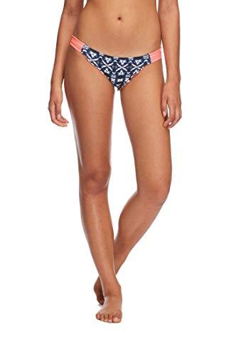 Eidon women's Low Rider Mid Rise Bikini Bottom Swimsuit, Aminatu Navy Print, -