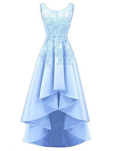 Novia Encaje De Claro Fiesta Vestidos Raso Baile Azul Noche Jaeden OAHqXH