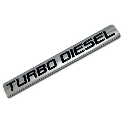 Chrome/Black Metal Turbo Diesel Engine Race Motor Swap Badge For Trunk Hood Door for Mitsubishi Mighty Max (Mitsubishi Mighty Max Hood compare prices)
