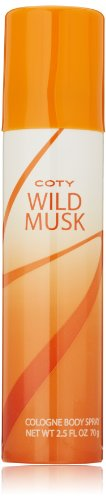 Wild Musk Cologone Body Spray by Coty Wild Musk, 2.5 Fluid O