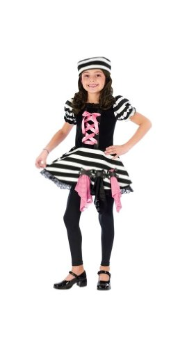 Convict Cutie Halloween Costume (Convict Cutie Costume - Child Costume - Large)