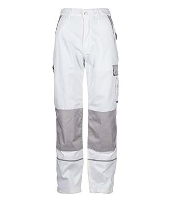 Tmg pantalones de trabajos para pintores y decoradores hombre muy resistentes blanco - Pintores y decoradores ...