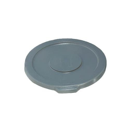 Trash Can Top, Flat, Snap-On Closure, Gray by Rubbermaid
