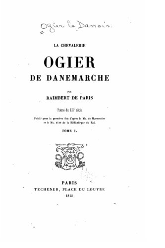 Read Online La chevalerie Ogier de Danemarche - Tome I (French Edition) pdf epub