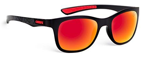 Officially Licensed NFL Sunglasses, Kansas City Chiefs, 3D Logo on Temple - 100% UVA, UVB & UVC - Beach Sunglasses City